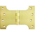 102mm x 100mm x 152mm x 4mm Parliament Hinge Polished Brass