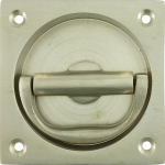 76mm Flush Pull And Turn Handle Satin Nickel