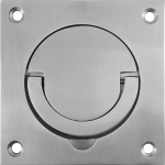 90mm Square Flush Squash Court Handles Brushed