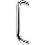 9 Inch Pull Handle Polished Aluminium Bolt Fixing