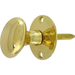Oval Rack Bolt Thumb-Turn Polished Brass