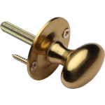 Oval Rack Bolt Thumb-Turn Satin Brass