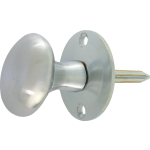 Oval Rack Bolt Thumb-Turn Satin Chrome
