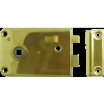 5 Inch Brass Rim Sashlock Polished Brass