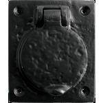 Plain Latch Cylinder Door Cover Antique Black