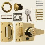 40mm Brass Double-Locking Nightlatch