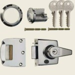 40mm Polished Chrome Double-Locking Nightlatch