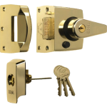 40mm BS Polished Brass High Security Nightlatch