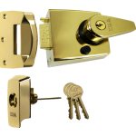 60mm BS Polished Brass High Security Nightlatch