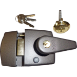 40mm Grey Double Locking Nightlatch