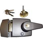 60mm Grey Double Locking Nightlatch