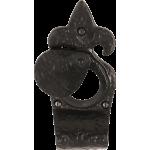 Fleur De Lys Night Latch Swing Cylinder Door Pull Antique Black