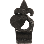 Black Antique Fleur De Lys Cylinder Cover Pull