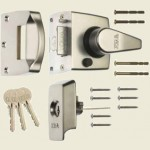 40mm BS Satin Chrome High Security Nightlatch