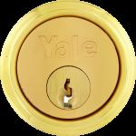 Night Latch Cylinder 2 Keys Brass