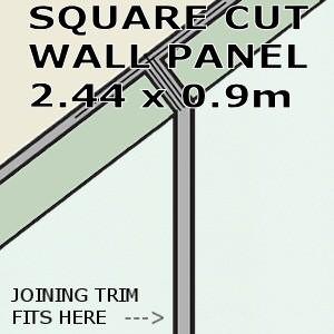 Aqua Ice Square Edge Panel 900mm