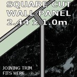 Black Marble Square Edge Panel 1000mm