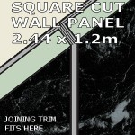 Black Marble Square Edge Panel 1200mm