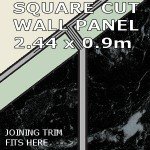 Black Marble Square Edge Panel 900mm