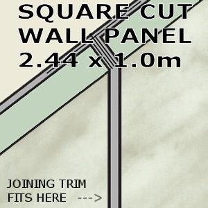 Carrara Marble Square Edge Panel 1000mm
