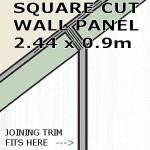 Linea White Square Edge Panel 900mm
