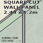 Pearl Grey Square Edge Panel 1200mm