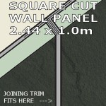 Slate Grey Square Edge Panel 1000mm