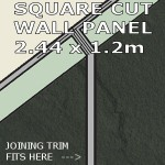 Slate Grey Square Edge Panel 1200mm