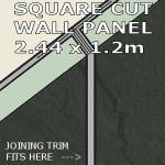 Slate Grey Square Edge Panel 1200mm