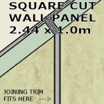 Travertine Square Edge Panel 1000mm