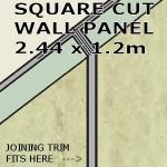 Travertine Square Edge Panel 1200mm