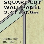 Travertine Square Edge Panel 900mm