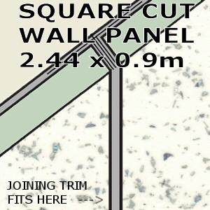 White Galaxy Square Edge Panel 900mm