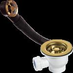 60mm Brass Basket Strainer Waste With Overflow