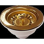 90mm PVD Brass Basket Strainer Waste