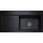 Mythos Black Ceramic Sink LHD