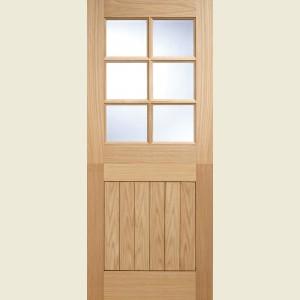Six Light Oak Stable Doors