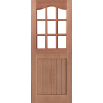 Nine Light Swept Head Hardwood MT Stable Doors
