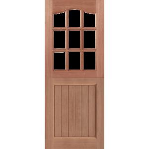 Nine Light Swept Head Hardwood MT Stable Doors