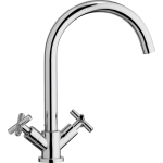 Oceanus Quarter Turn Mixer Tap Polished Chrome