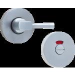 53mm Easy Turn & Release Bathroom Indicator Thumbturn Satin Aluminium