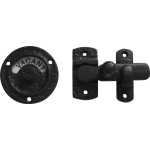 68mm Round Indicator Latch Bolt Black Antique