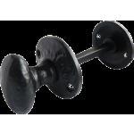 32mm Oval Bathroom Lock Turn Release Black Antique