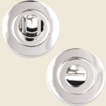 Venus Polished Chrome Bathroom Thumbturn Set