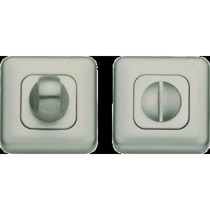 Lugano Bathroom Lock Thumb Turn Release Satin Nickel