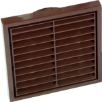Brown Louvered Vent 125mm Round Connection