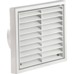 Louvered Vent White Round Connection 100