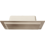 White Louvered Vent 150mm x 70mm Ducting