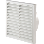 White Louvered Vent 125mm Round Connection