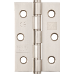 3 Inch Washered Hinge Satin Stainless Steel